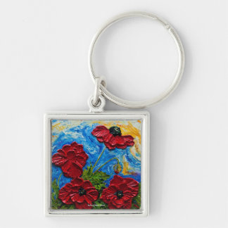 Red Poppies Keychains