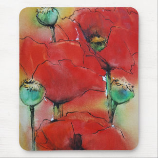 Red Poppies Mouse Mat