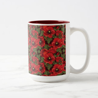 Red poppies mug