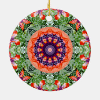 Red Poppies Nature 002, Flower-Mandala Christmas Ornament