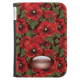 Red poppies - personalized Caseable Case Kindle Case