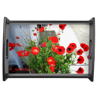 Red Poppies photo tray