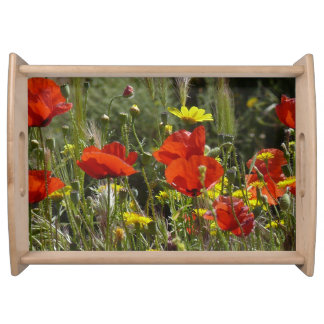 Red Poppies Serving Tray