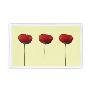 Red Poppies Tray