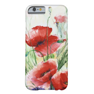 Red Poppies, Watercolor by N.Stangrit Barely There iPhone 6 Case