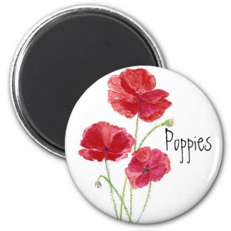 Red Poppies - Watercolor Magnet