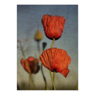 Red Poppies Wedding Invitation