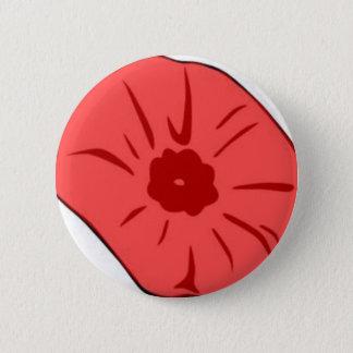 Red Poppy 6 Cm Round Badge