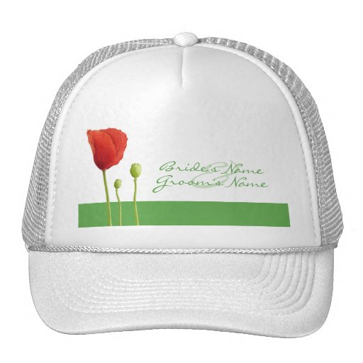 Red Poppy apple Hat