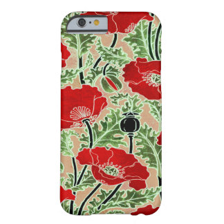 Red Poppy Barely There iPhone 6 Case