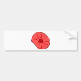 Red Poppy Bumper Sticker