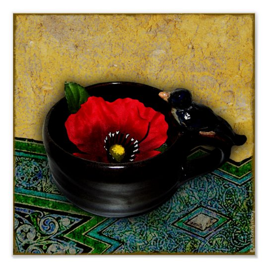 Red Poppy Cafe Print