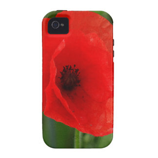 Red poppy Case-Mate iPhone 4 case
