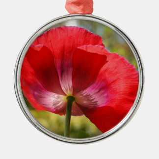 Red poppy christmas ornament