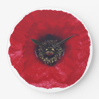 Red Poppy Clock