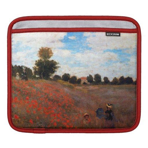 Red Poppy Field Fine Art iPad Sleeve