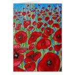 RED Poppy Field Greeting Card