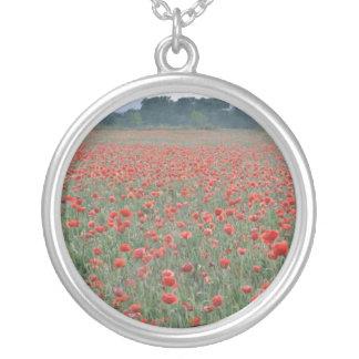 Red Poppy field, Kent, England flowers Pendants