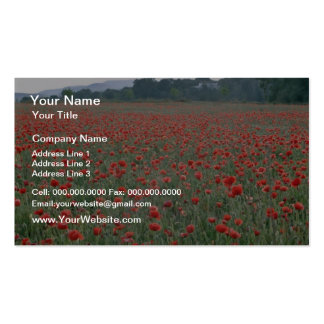 Red Poppy field, Kent, England flowers Pack Of Standard Business Cards