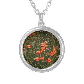 Red Poppy Field, Wildflowers Meadow, Nature Custom Jewelry