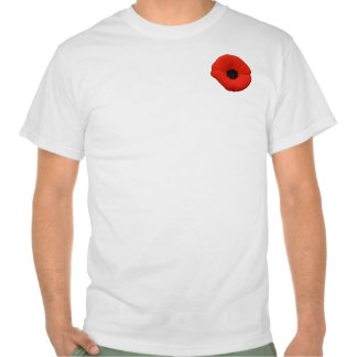Red Poppy Flower Canada Rememberance Day T-shirt