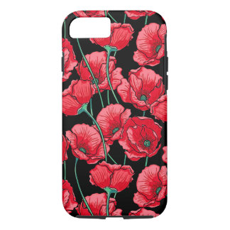 Red Poppy Flower Floral Pattern iPhone 8/7 Case