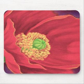 Red Poppy Flower Painting Art - Multi Mouse Mats