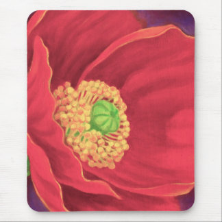 Red Poppy Flower Painting Art - Multi Mouse Pad