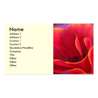 Red Poppy Flower Painting - Multi Double-Sided Standard Business Cards (Pack Of 100)