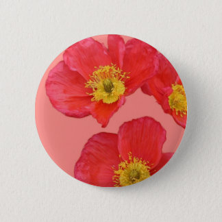 Red Poppy Flowers 6 Cm Round Badge