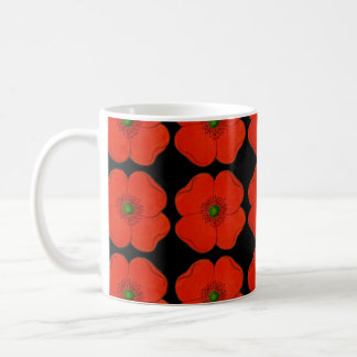 Red poppy flowers design - Spring poppies Coffee Mug