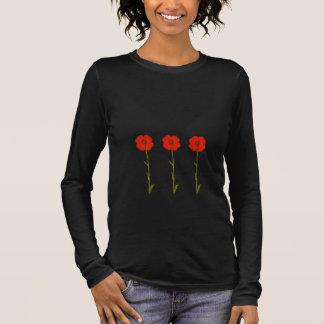 Red poppy flowers - flowered long sleeve T-Shirt