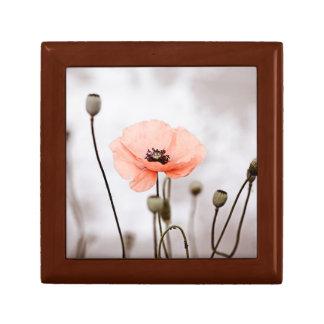 Red Poppy Flowers Trinket Boxes