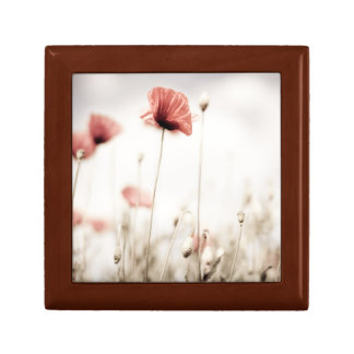Red Poppy Flowers Jewelry Boxes