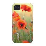 Red Poppy Flowers iPhone 4/4S Covers