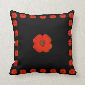 Red poppy flowers - poppies cushion