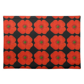 Red poppy flowers - poppies placemat