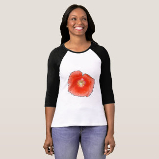 Red Poppy head 1l T-Shirt By KABFA Designs