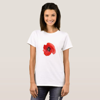 Red Poppy head T-Shirt By KABFA Designs