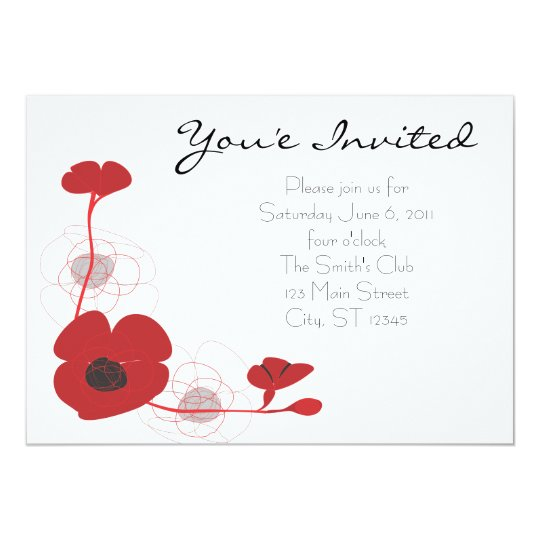 Red Poppy Invite