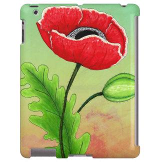 Red Poppy iPad Case