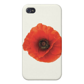 Red Poppy Covers For iPhone 4