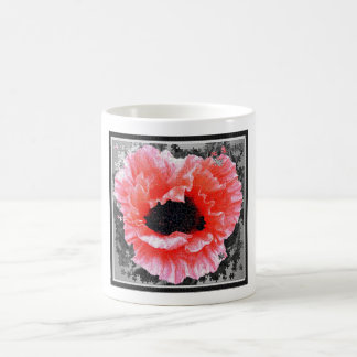 Red poppy jigsaw mug