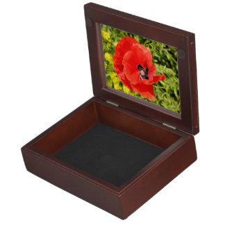 Red poppy keepsake box