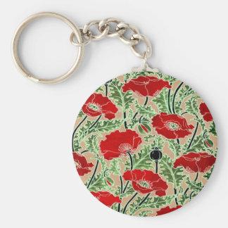 Red Poppy Key Ring