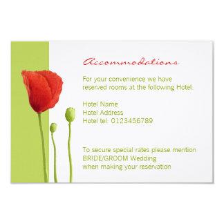 Red Poppy lime Enclosure Card 9 Cm X 13 Cm Invitation Card