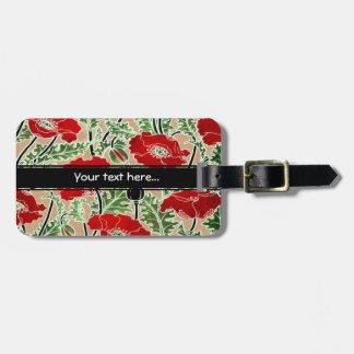 Red Poppy ~ Luggage Tag