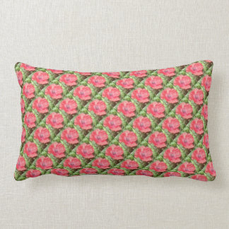 Red Poppy Meadow Dapple Lumbar Pillow - Diagonal