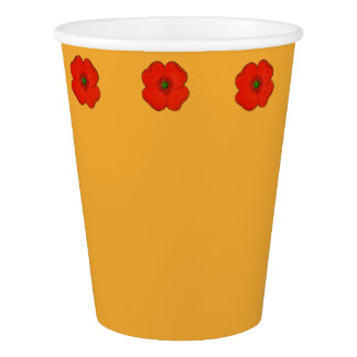 Red Poppy paper cup