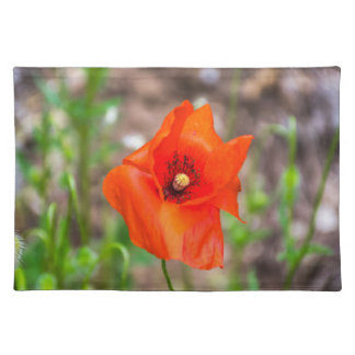 Red poppy placemat